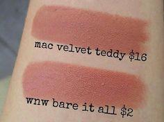 Makeup lipstick dupes