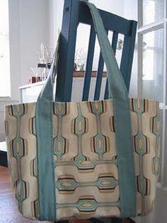 Reversible Tote Bag #sew #diy #tutorial