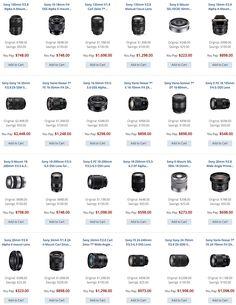 semi-annual-Sony-Alpha-lens-sale