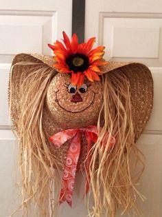 me ~ Halloween- und Herbsthofdekorationen Halloween Wood Crafts, Fall Halloween, Halloween Decorations, Thanksgiving Crafts, Fall Crafts, Holiday Crafts, Easter Crafts, Sunflower Burlap Wreaths, Fall Wreaths