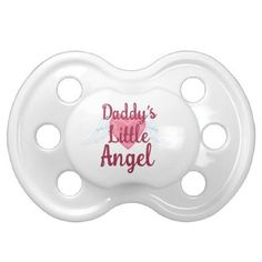 Daddy's Little Angel BooginHead® Pacifier - family gifts love personalize gift ideas diy