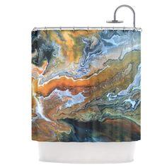 Found it at AllModern - Geologic Veins Shower Curtain