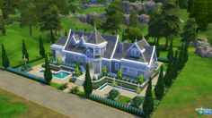 Manor blue by thesims4house at L'UniverSims via Sims 4 Updates