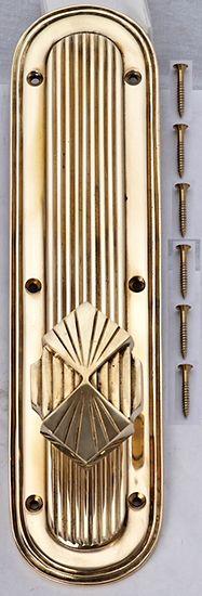Great Art Deco Door Knob Set - comes in complete sets - entryway doors, locking bath, locking bedroom doors, closets - in many finishes too.