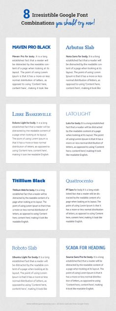 8 Irresistible Google Font  Combinations you should try now!
