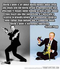 Simon Pegg on the definition of geek…sexy in a geeky way :)
