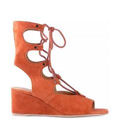 Sienna Suede Wedge Gladiator Sandals via @WhoWhatWear