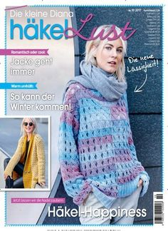 Jetzt lassen wir die Nadel zaubern: Häkel-Happiness Jetzt in Die kleine Diana Häkellust.  #DIY #häkeln #pulli #pullover #stricken #knitting #selfmade #selbstgemacht #kleidung #mode #winter #herbst #wolle