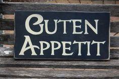 GUTEN APPETIT German Old World Kitchen Dining by shabbysignshoppe, $24.95