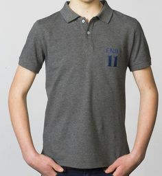 BOYS - EQIP-11 polo - mid grey. For hockey players who also want to radiate team spirit and sportsmanship off the field.