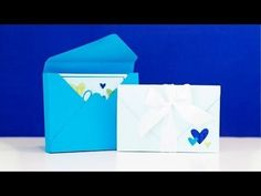 Card Boxes with We R Memory Keepers Envelope Punch Board - YouTube