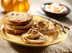 New York Style®: Pumpkin Cream Cheese  #recipe #thanksgiving #newyork