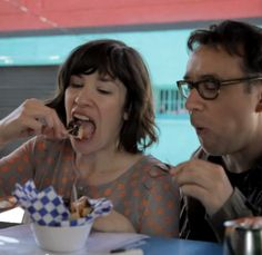 A Google map of (almost) everywhere they eat on 'Portlandia'—and its counterpart in the real Portland, Oregon