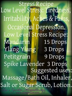 Liz's Garden Aromatherapy~Low Level Stress
