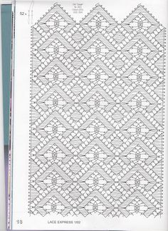 Lace Express 2002 - 01 - 30 Mb - isamamo - Picasa Web Albums Bobbin Lace Patterns, Bead Loom Patterns, Crochet Patterns, Crochet Edgings, Crochet Motif, Crochet Shawl, Lace Earrings, Lace Jewelry, Hairpin Lace Crochet