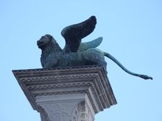 Column of Marco (Lion of Saint Mark) - Venice, Italy #travel