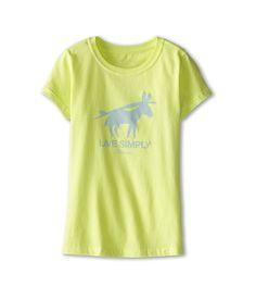 MADE IN USA - Patagonia Kids Live Simply Burros Y Tablas T-Shirt (Little Kids/Big Kids)