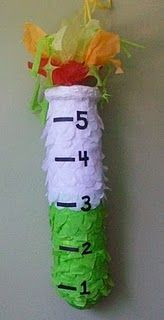 Test tube pinata.  Could scale this down and convert it to a party cracker?