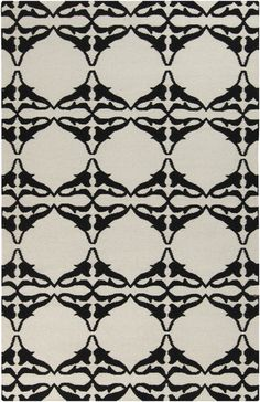 New black and white flat weave rug from Surya (FT-466)