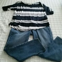 "Hollister Over Sized Striped Tee Excellent condition! The front hangs 25"", back hangs 26"". Very light weight & comfortable fir summer. Comes from smoke free home! Hollister Tops Tees - Short Sleeve"