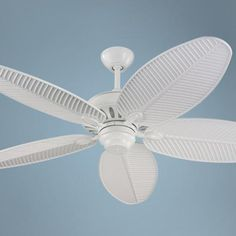 Monte Carlo Cruise White Wet Ceiling Fan _ Maybe for new patio Antique Ceiling Fans, Decorative Ceiling Fans, Monte Carlo, New Home Essentials, Hugger Ceiling Fan, Beach Lighting, Flush Mount Ceiling Fan, White Ceiling Fan, Houses