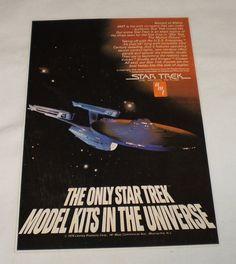 Star Trek Enterprise model kit promo poster