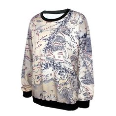 Middle earth map sweater