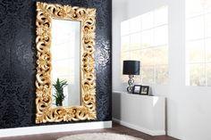 Riesiger Barock Spiegel VENICE 90x180cm gold antik - Edles Gold und wunderschöne Verzierungen Der Spiegel VENICE ist ein mystischer Gegenstand, der im Raum Dimensionen und Fenster öffnen kann, wo kein