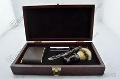 Black Shave Kit Knife Straight Razor Shaving Brush and leather Strop Gift #14   Collectibles, Vanity, Perfume & Shaving, Shaving   eBay!