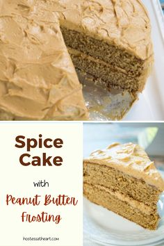 Spice Cake Recipes, Cupcake Recipes, Dessert Recipes, Desserts, Peanut Butter Frosting Easy, Peanut Butter Recipes, Bunt Cakes, Simply Recipes, Angel Food Cake