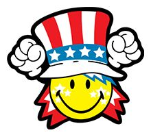 4th of july fourth of july clip art religious free clipart 2 rh pinterest com Emoji Smiley Face Clip Art Dancing Smiley Face Clip Art