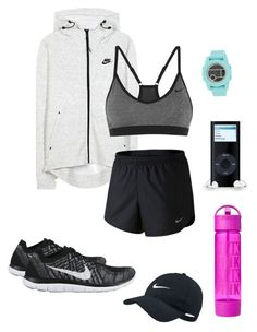 """""""Sport afternoon"""" by sarlota-krulisova on Polyvore featuring NIKE and Nixon"""