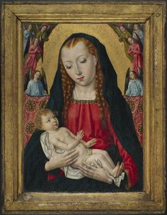 Master of the Saint Ursula Legend Netherlandish (active c. 1470 - c. 1500) The Virgin and Child with Angels, c. 1480 Painting Netherlandish , 15th century Creation Place: Netherlands Oil on panel