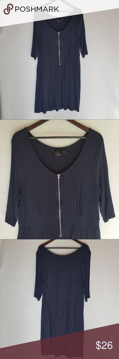 ASOS curve Navy Blue Dress Comfy ASOS curve navy blue dress.  Beautiful staple piece to add to your closet.  Size 18,  Pre owned piece.  Good condition. ASOS Curve Dresses Midi