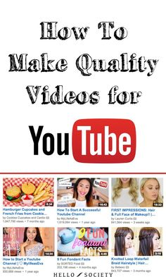 How To Make Quality Videos For YouTube