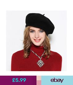 7b7e5bfeb59 Hats Womens 100% Wool French Painter Hat Winter Warm Solid Color Beret Cap  Y63  ebay  Fashion