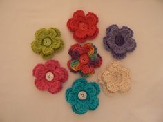 Crochet Flower Interchangeable Button-on Flower Accessory for Little Girl Hats