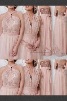 64a1b2a1b Cheap Fine Long Bridesmaid Dresses Rose Gold Convertible Bridesmaid Dress