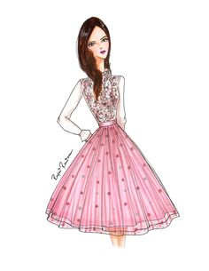 Custom sketch to dream in pink boutique