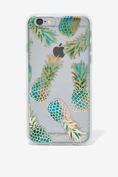 Hello Metallic foil iridescent pineapple iPhone 7 Plus case! This iPhone 7 Plus is totally funky cool girl pineapple spectacular! A transparent polycarbonate back with our gold foil design shows off y Coque Iphone 4, Coque Ipad, Iphone 8, Cute Phone Cases, Iphone 7 Plus Cases, Iphone Wallpapers, Whatsapp Pink, Telephone Iphone, Accessoires Iphone