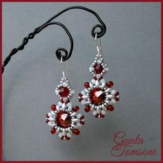 "Free Beading Pattern: Earrings ""Stella"" by Gunta featured in recent Bead-Patterns.com Newsletter"