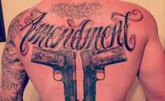 Brantley Gilbert's back tattoo