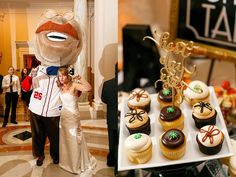 """Georgetown cupcakes and a gold """"Best Day Ever"""" cake topper