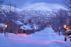 Winter morning in #Breckenridge, #Colorado.  Love this photo - looks like a painting.