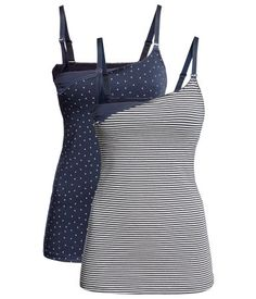 Product Detail | H&M US Nursing tank top, 2 pair set for $29.95