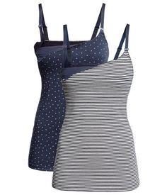 Product Detail | H&M US Nursing tank top, 2 pair set for $29.95