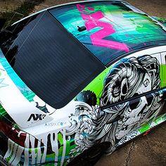 Wrapped Mitsubishi Evo by Ruthless Wraps