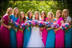 Alyssa Bates Webster and her bridesmaids. Flowers by. Gallery Florist and Gifts www.galleryfloristandgifts.com