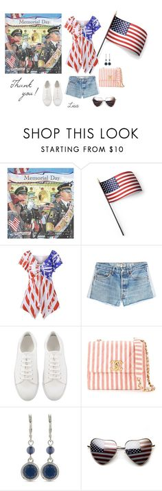"""""""Happy Memorial Day!"""" by coolmommy44 ❤ liked on Polyvore featuring Kenney, Grandin Road, RE/DONE, Chanel and Nine West"""