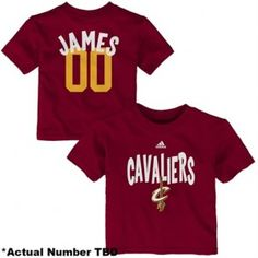Cleveland Cavaliers, Lebron James Baby Tee, Creeper, Jersey, Onesie